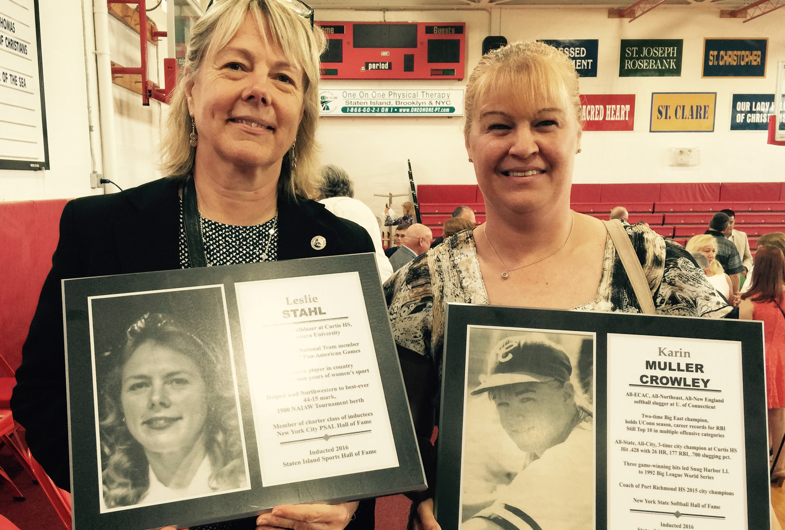 Former Curtis Gals Shine In Glory At Sports Hall of Fame